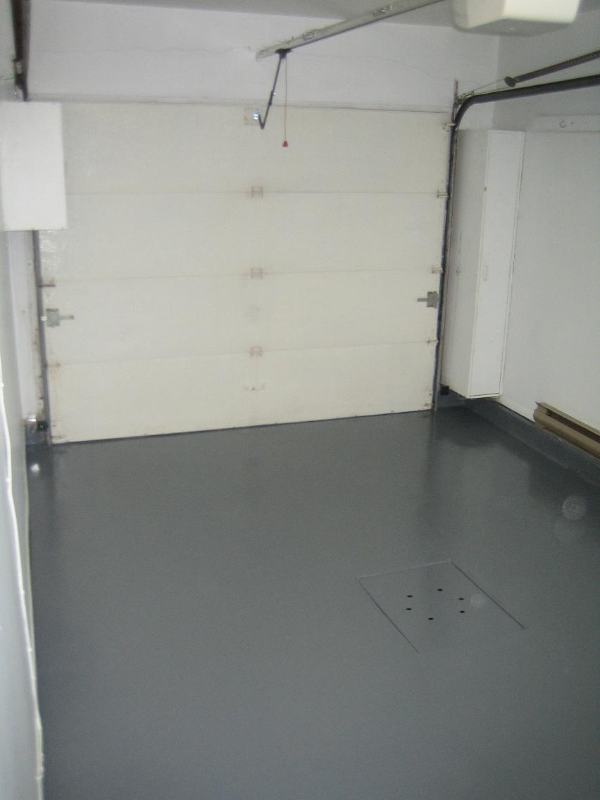 Flip 101 terrebonne avant apr s for Peinture au sol pour garage